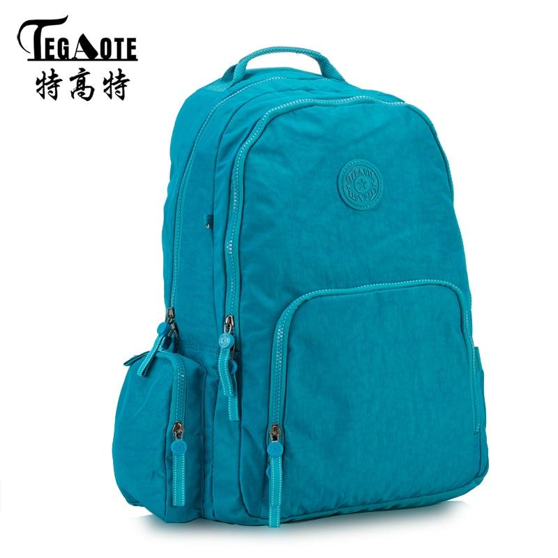 TEGAOTE Mochila Feminina School Backpack for Teenage Girl Nylon Waterproof Laptop Backpacks Female Casual Bagpack Women Rucksack