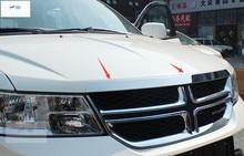 Интимные аксессуары для Dodge Journey JCUV Fiat Freemont 2012 2013 2014 2015 Нержавеющаясталь спереди Гилл Двигатели для автомобиля крышка отделка 1 шт.