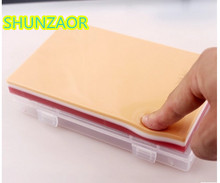 SHUNZAOR human skin suture model with 3 layers for muscle suture exercises and knotted in surgical training