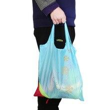 Эко-многоразовые хранения Водонепроницаемый нейлоновая сумка Клубника Складная Хозяйственные сумки красивые Экономия места сумка