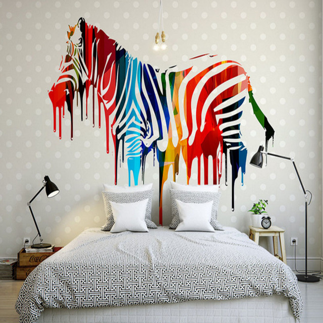 Simple painted wall murals images for Mural 3d simple
