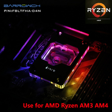 Water-Cooling-Radiator Amd Ryzen Cpu-Block BARROW AM3 AM4 Light Display OLED Digital