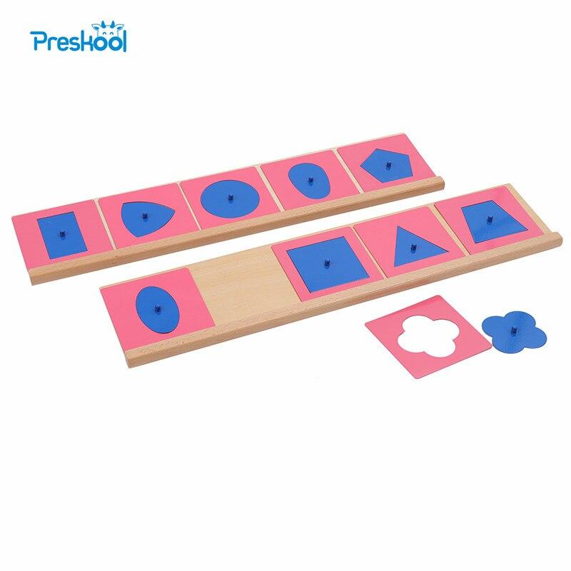 Bébé Jouet Montessori De Qualité Professionnelle En Métal Encarts/10 avec Base Education Préscolaire Formes Géométriques