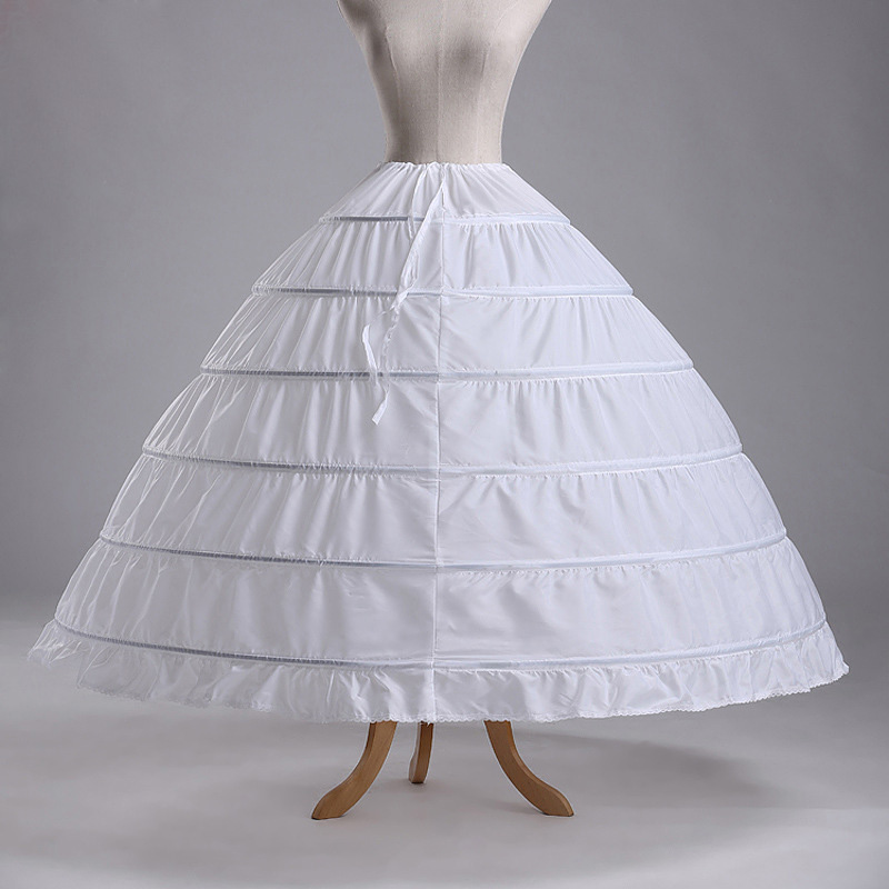 2016 High Quality White 6 Hoops Petticoat Crinoline Slip Underskirt For Wedding Dress Bridal Gown In Stock Accessories Petticoats From Weddings