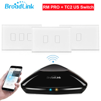 Broadlink RM2 RM PRO TC2 Touch Light Wall Switch 1 2 3Gang US Std Smart Home