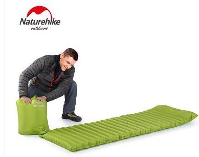 NH ultralight portable sleeping pad fast filling air bag super light inflatable mattress with pillow only 550g portable air compressor 8l air pool cylinder noisy less light tool 0 7mpa pressure economic speciality of piston filling machine