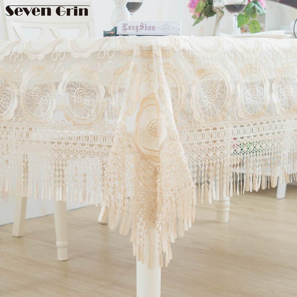 Envío Gratis oro colores mantel boda estilo moderno Organza Floral ...