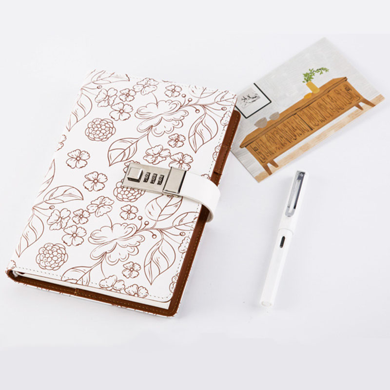 A5 Notebook Paper Floral Diary Chancery Diary Notebook Planner Agenda School Stationery with Lock  Lines Page Calendar NotebookA5 Notebook Paper Floral Diary Chancery Diary Notebook Planner Agenda School Stationery with Lock  Lines Page Calendar Notebook