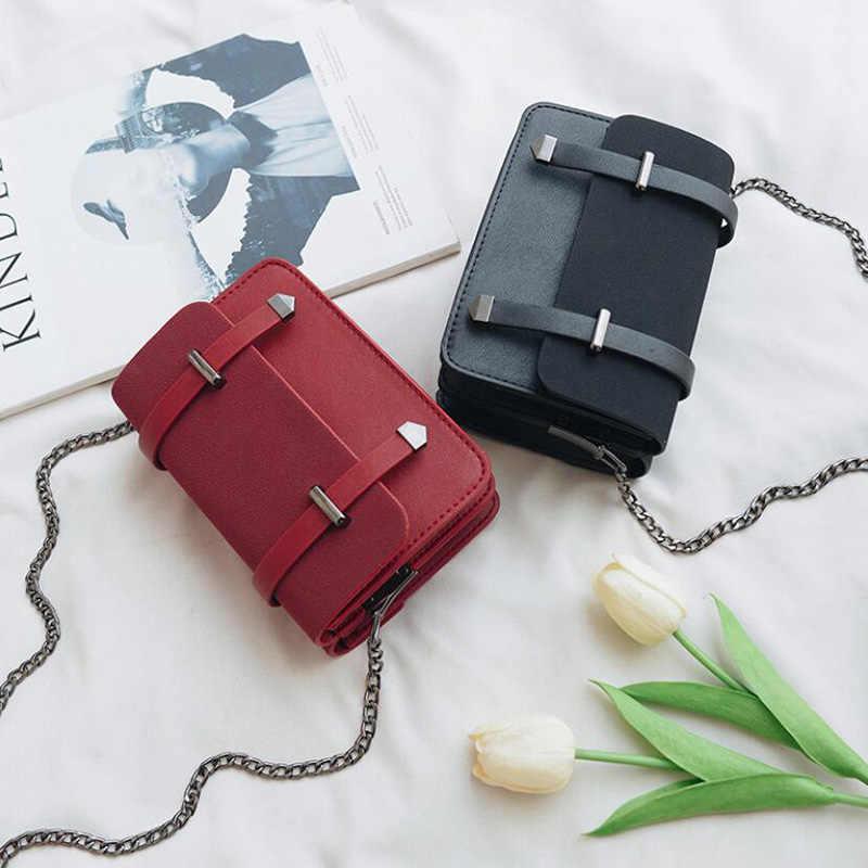 5f67cbdcbe08 Women Shoulder Bag Messenger Bag Fashion Women Bags Vintage Stitching  Double Sided Bags Korean Version Chain A4251