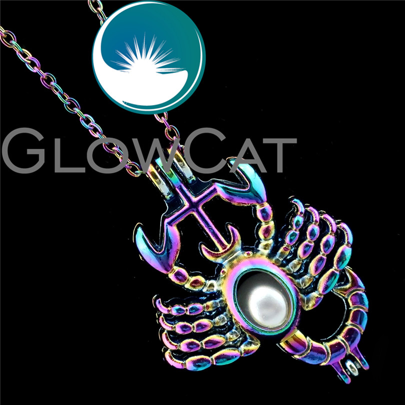Necklaces & Pendants Discreet R-c182 Rainbow Colors Scorpion Beads Cage Pendant Essential Oil Diffuser Aromatherapy Pearl Cage Locket Necklace