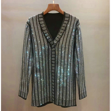 Knitting Beaded Cardigan V-neck