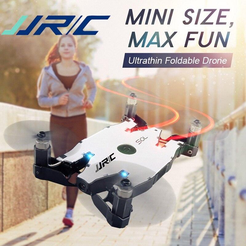 Jjr/c jjrc h49 rc zangão sol ultrafinos wifi fpv selfie zangão 720 p câmera auto braço dobrável altitude hold rc quadcopter vs h37 h47