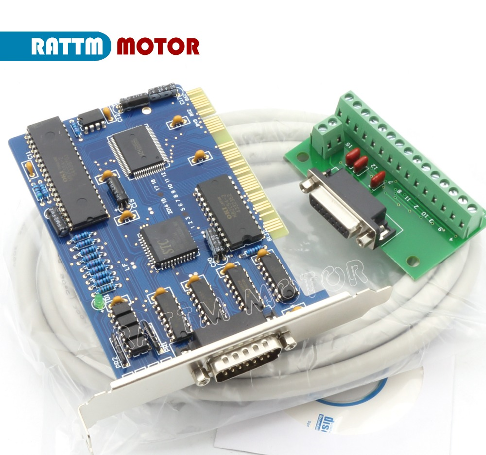 цена на 3 axis NC Studio PCI motion ncstudio control card set for CNC router Engraving Milling machine Interface Adapter Breakout