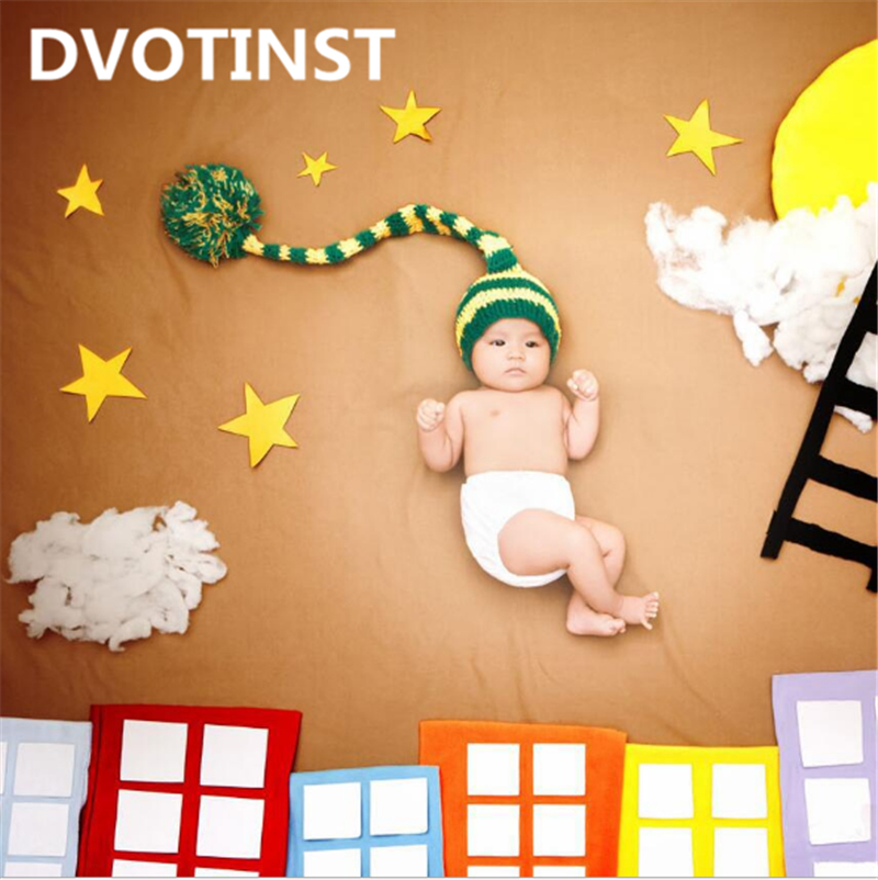 все цены на Dvotinst Baby Photography Props Starry Theme Background Costume Clothes Set Fotografia Accessories Infant Studio Shooting Props