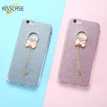 Get more info on the KISSCASE For Apple iPhone 7 6 6s Plus 5 5s SE Case Shining Diamond Glitter Powder Capa Bowknot Protective Back Cover Fundas Capa