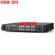 KYSATR KS600 LED Video Prozessor Scaler 1920*1200 Unterstützung 2 senden karten DVI/VGA/HDMI LED Video wand Controller 2019 Neue Design