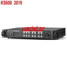 Kysatr ks600 led processador de vídeo scaler 1920*1200 suporte 2 envio cartões dvi/vga/hdmi led vídeo wall controlador 2019 novo design