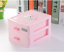 VKStory Life Bathroom Hello Kitty wardrobe Pink cute Storage Racks For Make Up Tools Earrings Favourite boxes