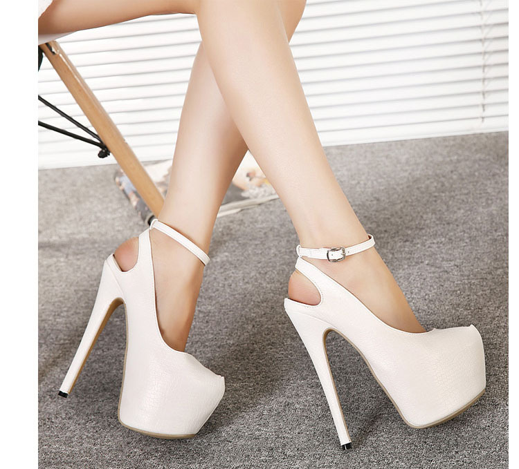Aliexpress.com : Buy Sexy Platform Sky High Heels Ankle Strap ...