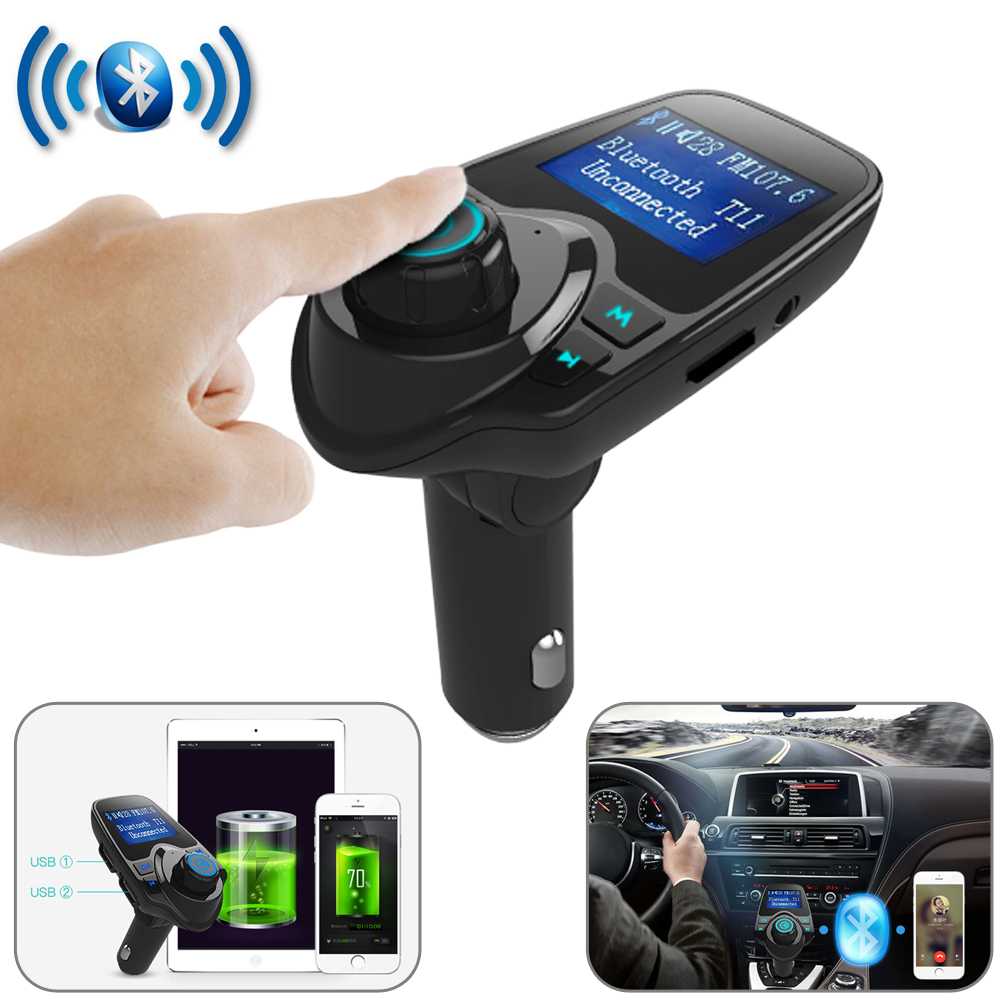 Wireless In-Car Bluetooth FM Transmitter Car Kit MP3 Radio Adapter USB Charger