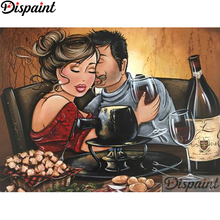 Dispaint Full Square/Round Drill 5D DIY Diamond Painting Cartoon couple 3D Embroidery Cross Stitch Home Decor A18393