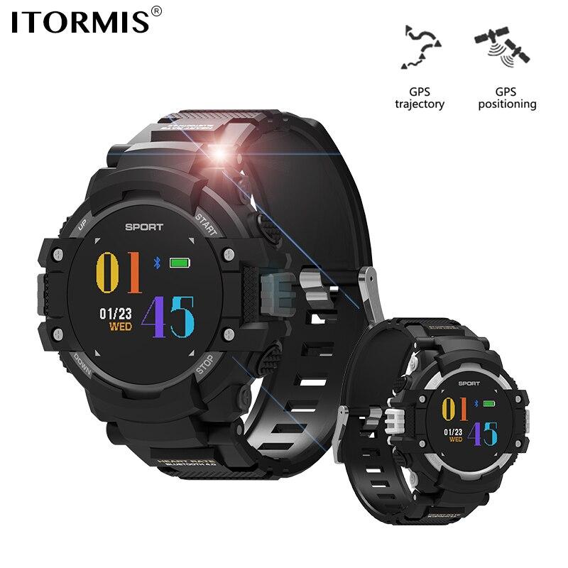 ITORMIS Bluetooth GPS montre intelligente SmartWatch montre de Sport avec traqueur de fréquence cardiaque podomètre altimètre baromètre boussole pour hommes