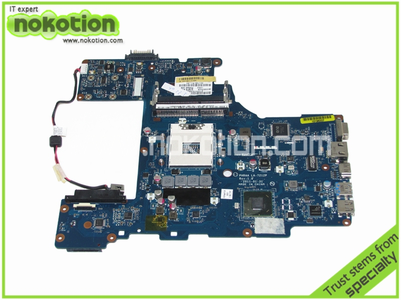 Laptop motherboard for Toshiba Satellite P770 K000128610 PHRAA LA-7212P Rev 1.0 intel HM65 DDR3 Mainboard full tested for lenovo laptop motherboard g570 piwg2 la 6753p hm65 ddr3 pga989 mainboard