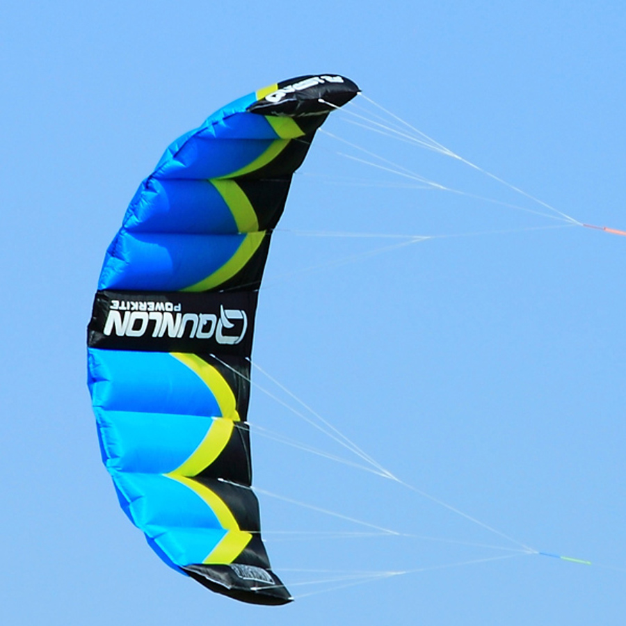 Outdoor Sport 3Sqm Dual Line Stunt Kite Flying Kiteboarding Trainer Kite For Beginner Power Traction Kite