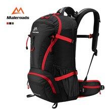 Maleroads top qualità trekking zaino camp hike viaggi a doppia spalla zaino nero salire sacchetto per salire militare 40l