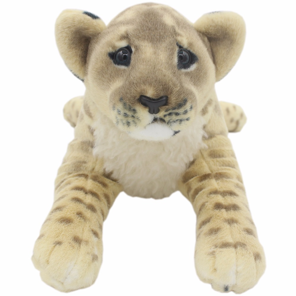 JESONN Realistic Fyllda Djur Lion Tiger Leopard Panther Cheetah Plush - Plysch djur