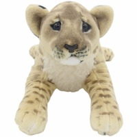 JESONN Realistic Stuffed Animals Lion Tiger Leopard Panther Cheetah Plush Toys Lioness Pillows for Children's Birthday Gifts