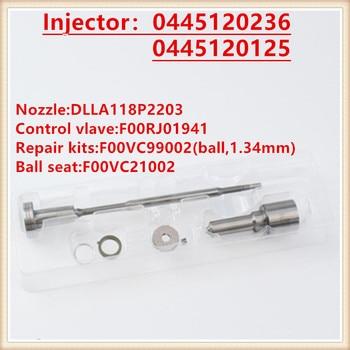 Kit de revisão dos kits de reparo do pulverizador do injetor 0445120236, 0445120125 para o bocal diesel da injeção de injektor 0445120236 0445120125