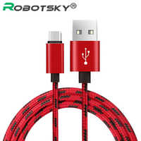 Robotsky Type C Mirco USB Cable USB C Cable For Samsung Xiaomi Huawei Super Fast Charger USB Type C USB C Fast Charge Android