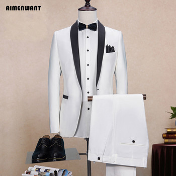 Slim Fit Blazer Male Custom Made Tuxedo Suits Prom Suit with Pants 2pcs SET