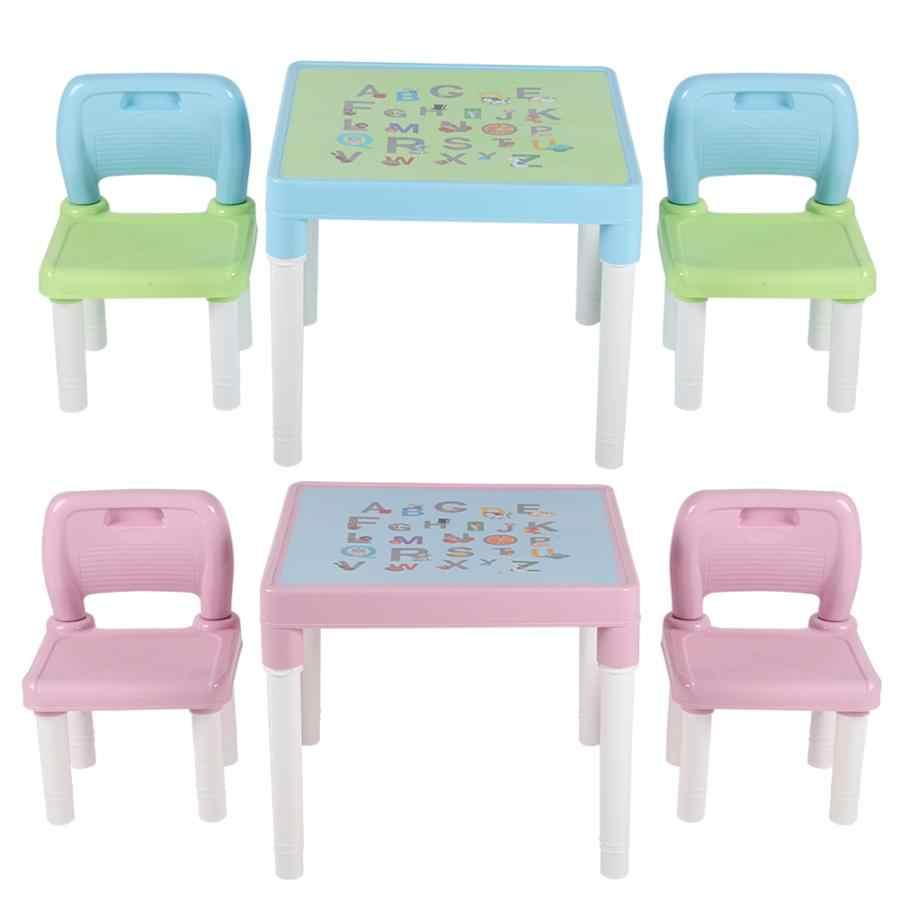 Tavoli E Sedie In Plastica Per Bambini.Bambini Bambini Di Plastica Tavolo E Sedia Set Di Apprendimento Di
