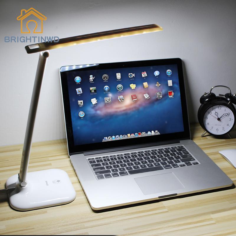 30 светодиодный настольная лампа защиты глаз огни 10 Вт светодиодный источник сенсорный переключатель регулировки для работы чтения Offrice исс...