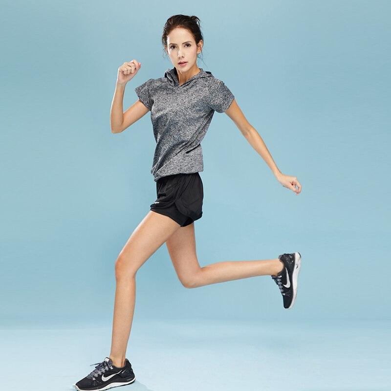 VERZY 2018 nuevo conjunto de Yoga para mujeres, Fitness, gimnasio, correr, medias, traje deportivo, chaqueta deportiva de manga corta + Conjunto de sujetador, entrenamiento profesional - 5