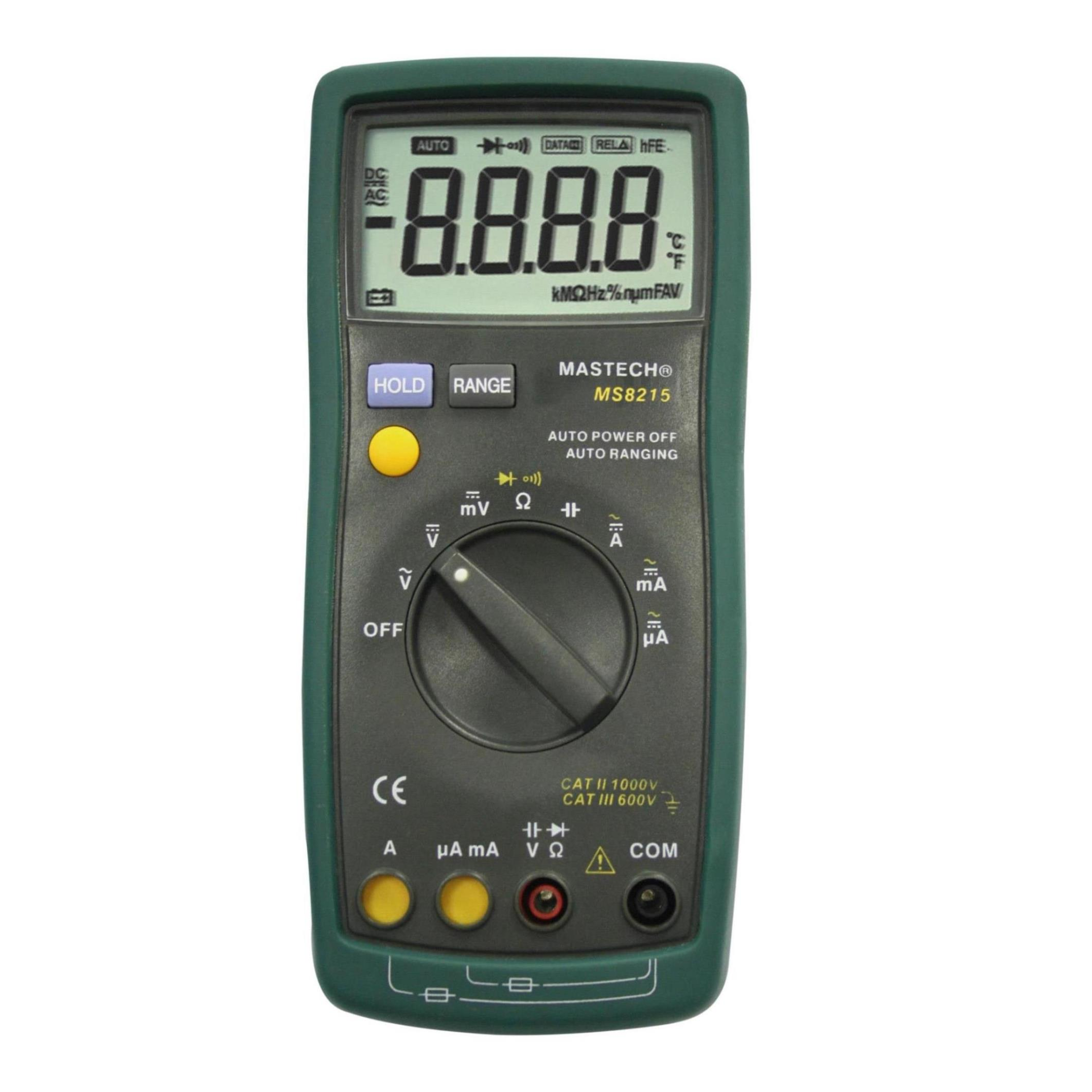 MASTECH MS8215 Digital Multimeter AC/DC Voltage Current Frequency Capacitance Resistance Tester Detector uxcell digital multimeter ac voltage current resistance capacitance frequency temperature tester meter 600mv 6v 60v 600v 1000v