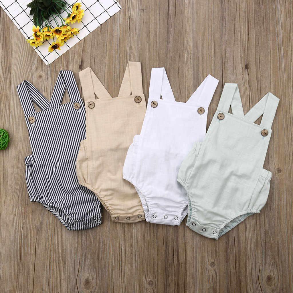 Bebé mameluco infantil de verano Unisex de algodón recién nacido Pantalones bebé recién nacido de una pieza niñas mono ropa de bebé niño traje