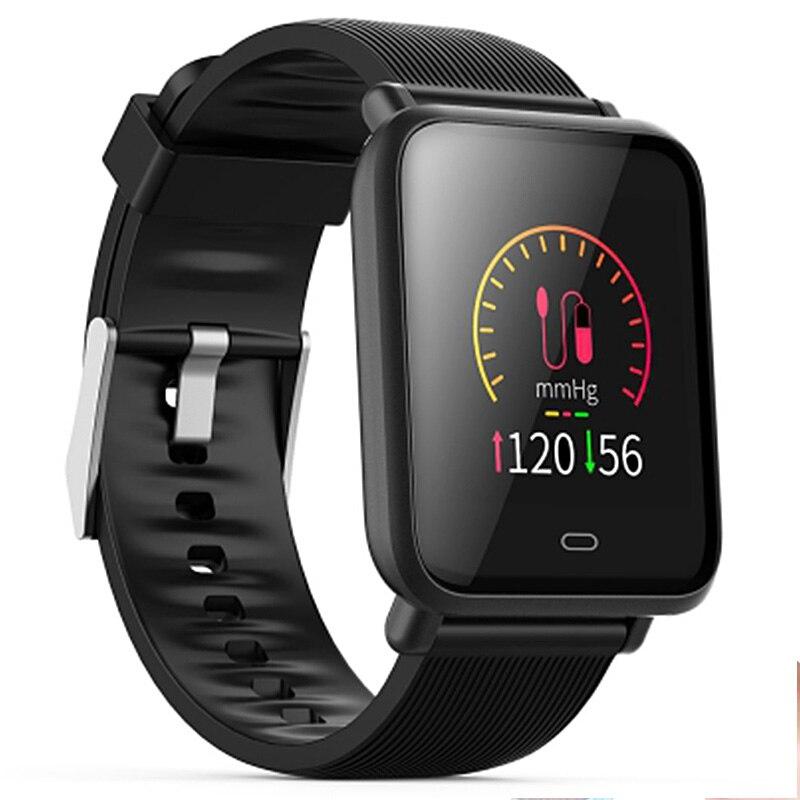Mesuvida Q9 Smartwatch impermeable de los deportes para Android/IOS con Monitor de ritmo cardíaco sangre presión funciones de reloj inteligente
