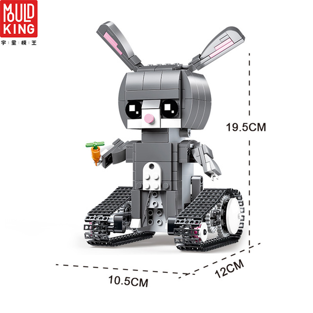 MOULD KING 13045 Rabbit RC Action Anime Figure Robot Remote Control Crawler Building Blocks Technic RC LEPIN™ Land Shop