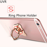 UVR 100pcs/lot Cartoon Bear Head 360 Degree Rotate Metal Finger Ring Holder for Mobile Phone Stand for iphone samsung device