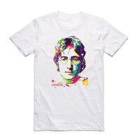 Asian Size Men And Women Print John Lennon Imagine T Shirt O Neck Short Sleeves The