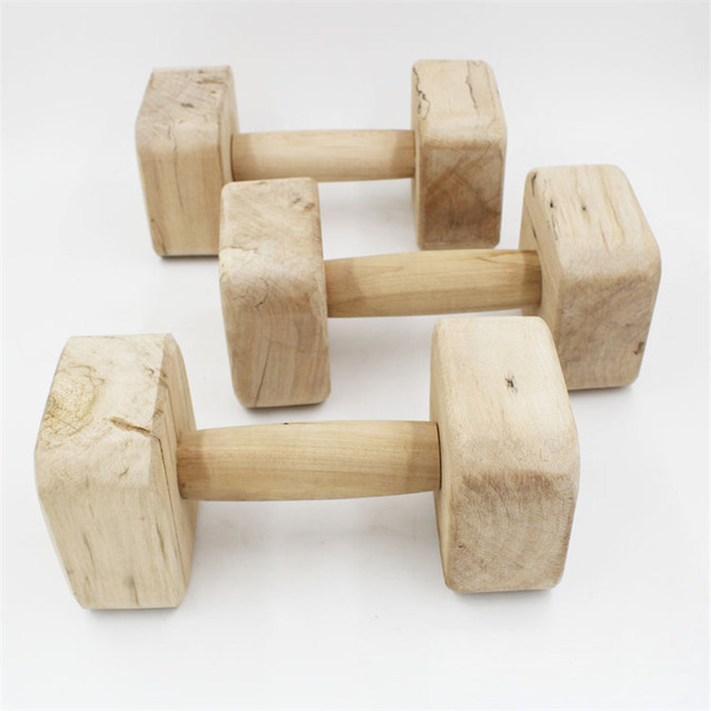 5 Size brand Wood large Dog Training Bite Toys Dumbbell for Fetch and Behavior Retriever Training Suitable