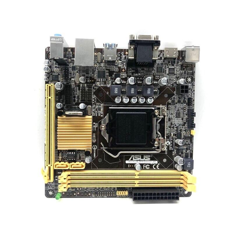 Carte mère originale ASUS H81I-PLUS_DP/P30AD/DP_MB LGA 1150 DDR3 16 GB USB2.0 USB3.0 Mini ITX HTPC H81 carte mère de bureau