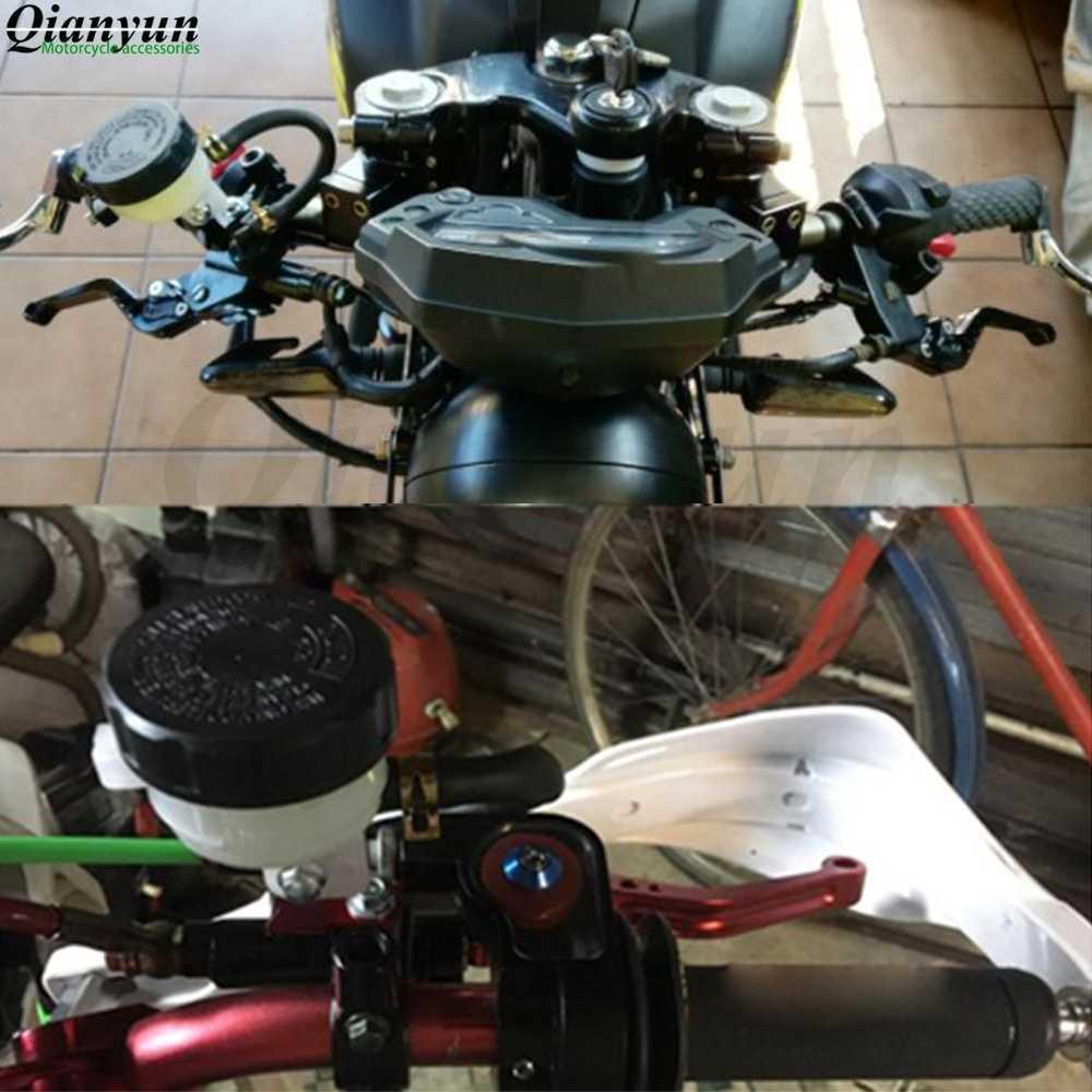 """7/8 """"réservoir universel de maître-cylindre de levier d'embrayage de frein avant de moto pour Kawasaki yamaha ktm honda suzuki BMW triumph MV"""