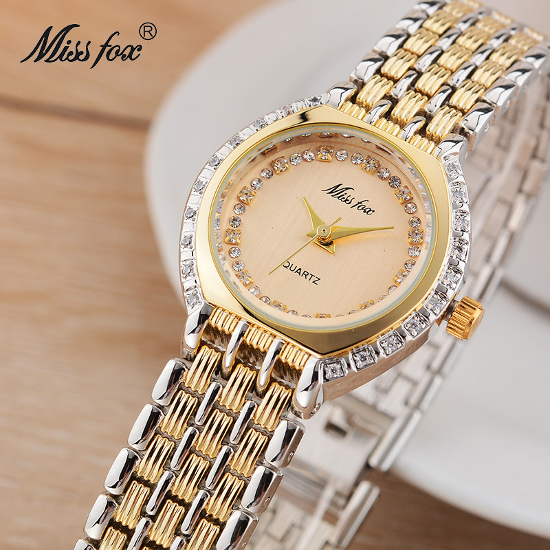 Miss Fox Business Watch Women Rhinestone Timepiece Goldsmith Quartz Watch Japan Movement Xfcs Sobretudo Relogio Feminino Dourado недорго, оригинальная цена
