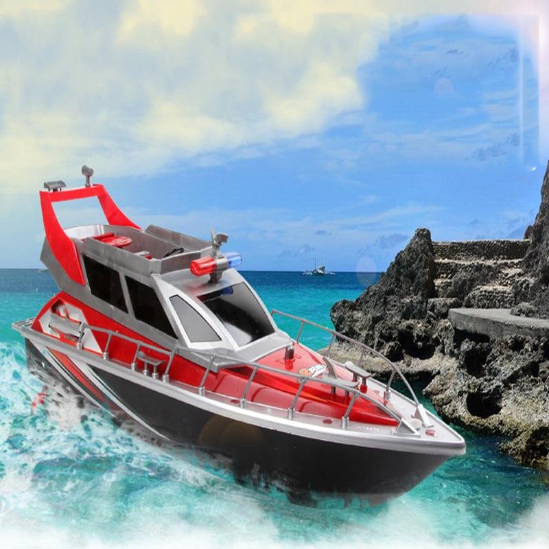 Remote Control Boat four-way charging children Model Toy Speedboat Patrol Craft Outdoor