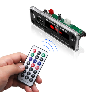 Image 4 - Kebidu 5V 12V DC SD FM 라디오 오디오 MP3 플레이어 AUX 3.5MM MP3 모듈 디코더 보드 자동차 원격 음악 스피커에 대 한 USB 전원 공급 장치