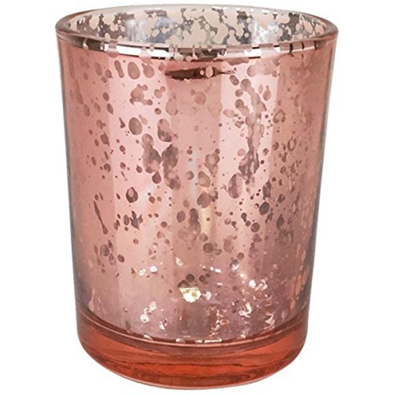12 stks 2.5 inch Rose Goud Kwik Glas Kaars Houder Bruiloft Votive Kaarshouder Diner Xmas Tafel Decoratie-in Feest Doe het zelf Decoraties van Huis & Tuin op  Groep 1